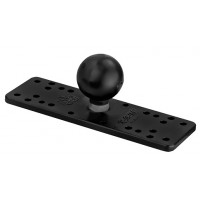 "6.5"" x 2"" Universal Electronics Base with 1.5"" Ball by Ram Mounts"