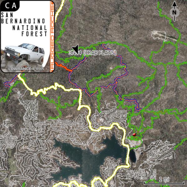 San Bernardino National Forest Ca Off Road Gps Map Card