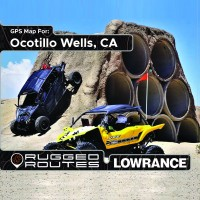 Ocotillo Wells SVRA, CA Lowrance Off Road GPS Map
