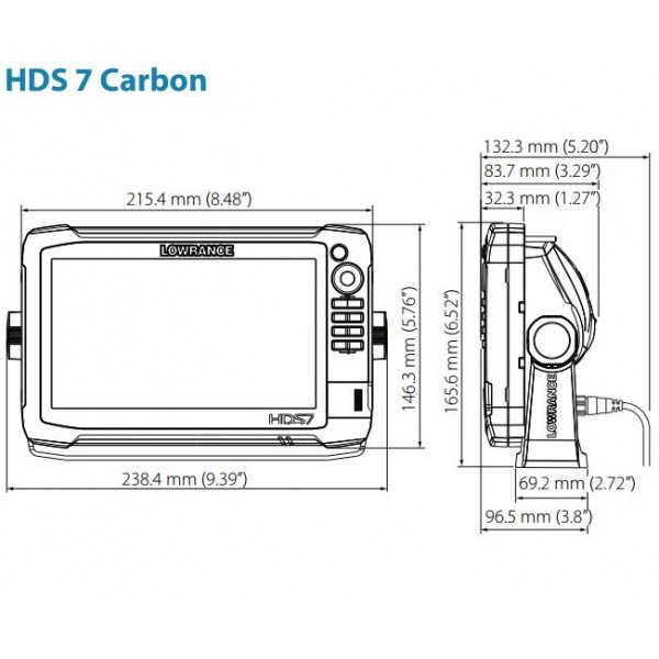HDS-7 Carbon Multifunction Off Road GPS by Lowrance