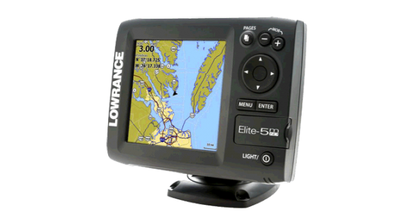 Elite-5M HD Gold GPS by Lowrance