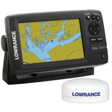 Elite-7M HD Baja Off Road GPS w/ Point-1 Antenna by Lowrance