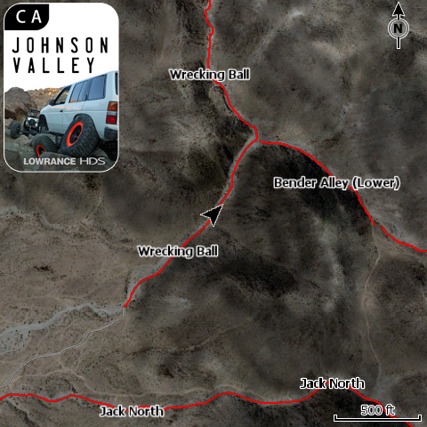 Johnson Valley, CA Off Road GPS Map Card for Lowrance HDS & Elite HD
