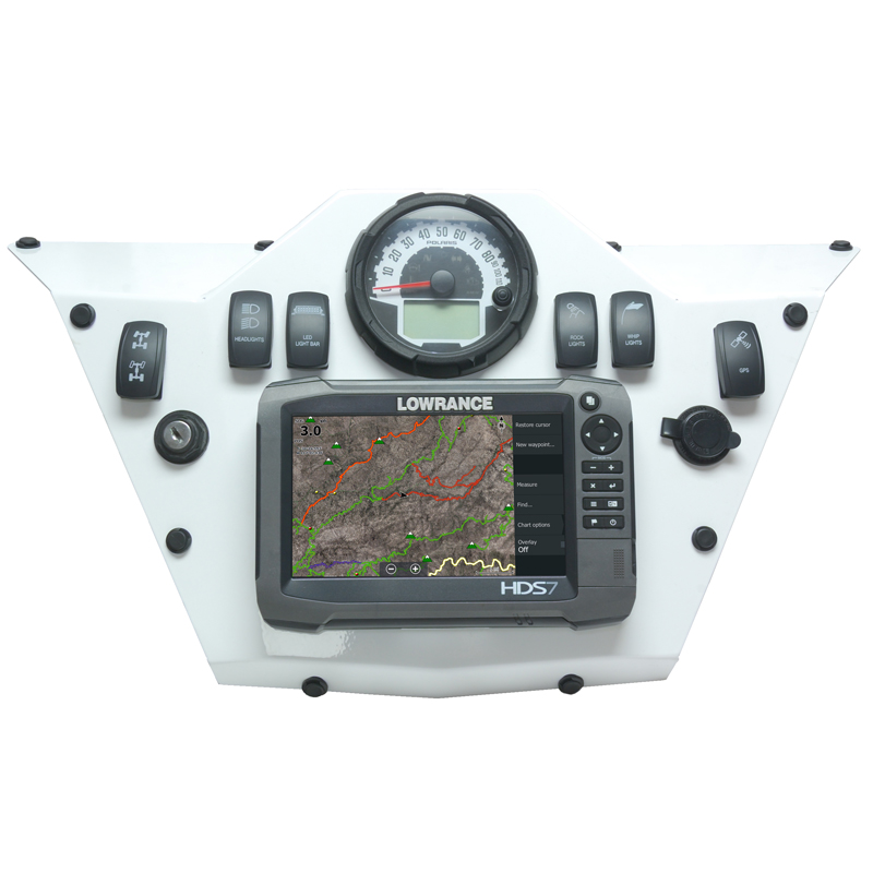 Polaris RZR 900 Dash Panel for Gen2/3 HDS 7 by Rugged Routes